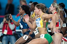 60 m women 2012 IAAF World Indoor Championships semifinal 1.jpg