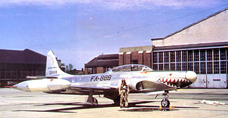 61st Fighter Squadron - 61st FIS F-94B 50-0888 at Selfridge AFB, about 1951