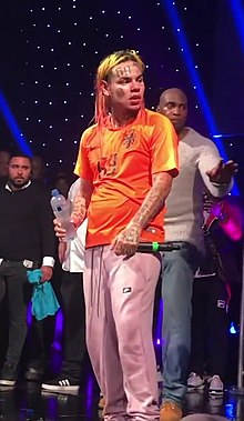6ix9ine performing at The BOX in Amsterdam, Netherlands on June 24, 2018