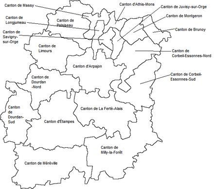 Carte Essonne Pdf.Liste Des Cantons De L Essonne Wikipedia