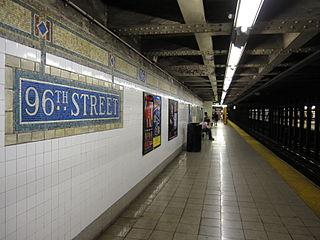 New York City Subway station in Manhattan, New York