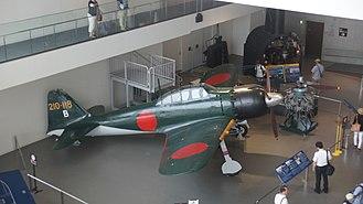 Yamato Museum - Mitsubishi A6M Zero model 62 in Yamato museum