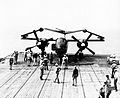 AJ Savage with folded wings on USS Kearsarge (CV-33) 1952.jpg