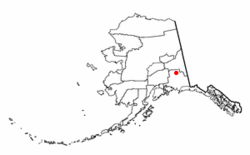 Location of Slana, Alaska