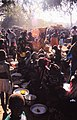 ASC Leiden - W.E.A. van Beek Collection - Dogon markets 49 - Women from one ward lining up at the Tireli market, Mali 1985.jpg