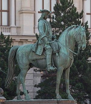 Otto Ferdinand von Abensberg und Traun - Statue of Traun on the memorial to Maria Theresa, Vienna