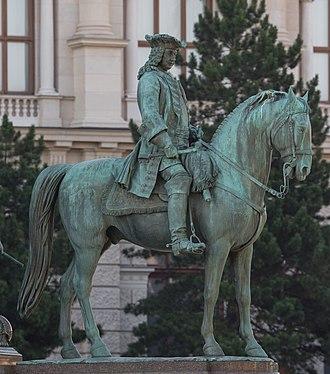 Otto Ferdinand von Abensperg und Traun - Statue of Traun on the memorial to Maria Theresa, Vienna