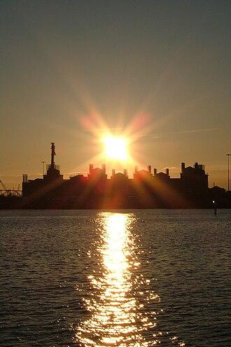 National Oceanography Centre, Southampton - National Oceanography Centre, Southampton at sunset