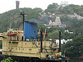 A Ship enters into Inner Harbour at Vizag seaport 02.JPG