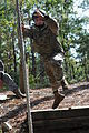 A Special Forces Assessment and Selection candidate conducts training at the Nasty Nick obstacle course at Camp Mackall in Hoffman, N.C., September 2009 091009-A-GV060-113.jpg