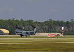 A U.S. Air Force CV-22 Osprey tiltrotor aircraft takes off from Hurlburt Field, Fla., Oct. 3, 2013 131003-F-RS318-120.jpg