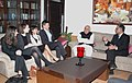 A delegation of Graduates Students of the Columbia Business School, USA calling on the Union Minister of Human Resource Development, Shri Kapil Sibal, in New Delhi on January 06, 2010.jpg