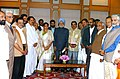 A delegation of MPs from Kerala lead by the Minister for Parliamentary Affairs, Kerala, Shri M.Vijayakumar calling on the Prime Minister, Dr Manmohan Singh, in New Delhi on February 15, 2007.jpg