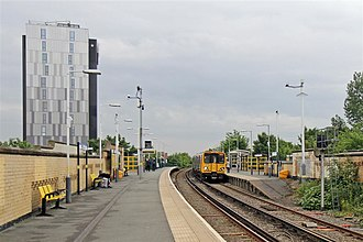 Bootle New Strand railway station - Image: A few steps forward, Bootle New Strand Railway Station (geograph 2994523)
