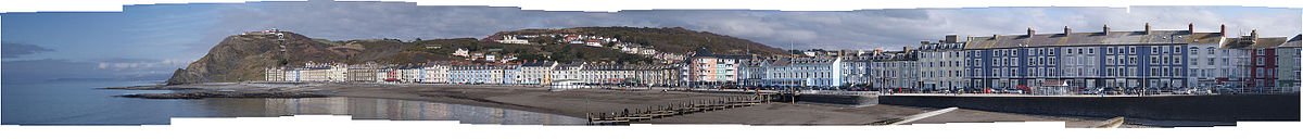 Panorama of Aberystwyth, Wales. 21 March 2011