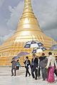 Abhisit Vejjajiva circumambulates Uppatasanti Pagoda.jpg