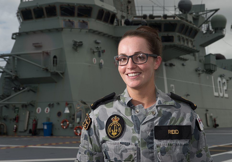 Able Seaman Maritime Logistics-Support Operations Codie-Lee Reid on HMAS Canberra at RIMPAC 2016
