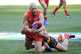 Gary Ablett Jr. - Ablett playing for Gold Coast in 2017