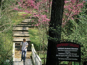 Centenary College of Louisiana - Arboretum Bridge: The Dr. Ed Leuck Academic Arboretum, located in the heart of campus, is home to more than 300 species of plant life.