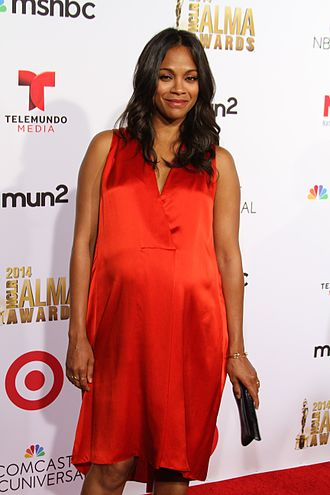 Zoe Saldana - Saldana at the 2014 Alma Awards, while she was pregnant with twins