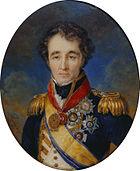 Portrait of Sidney Smith in blue naval uniform