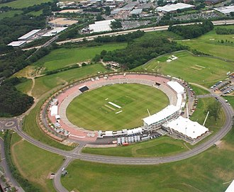 Rose Bowl (cricket ground) - An aerial view of the Rose Bowl in 2004