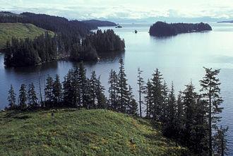 Afognak - Afognak coastline at Kazakof Bay