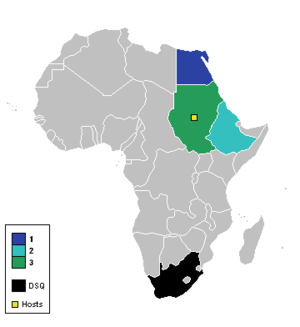 1957 African Cup of Nations - Participating nations