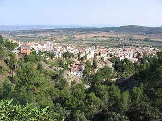 Agres - Agres seen from the Montcabrer.