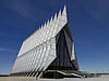 Air Force Cadet Chapel against a blue sky