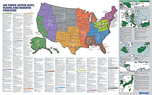 List Of United States Air Force Installations Wikipedia - Map of us air force installations