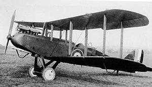 No. 107 Squadron RAF - An Airco DH.9 as used by No. 107 Squadron
