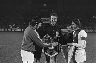 John Greig - Greig and Johan Cruyff (Jan. 1973)