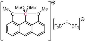 "This anthracene derivative contains a carbon atom with 5 formal electron pairs around it. Akiba's ""hypervalent carbon"" compound.png"
