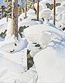 Akseli Gallen-Kallela - The Lair of the Lynx (vertical footprints, far).jpg