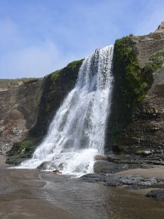 Alamere Falls waterfall in Point Reyes, California