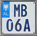 Albania motorcycle plate 02.jpg