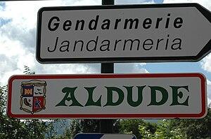 Aldudes - Aldude sign