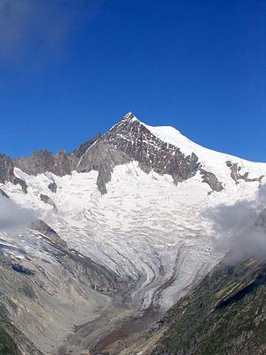 Mittelaletsch Glacier - Mittelaletschgletscher and Aletschhorn