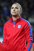 Alex Morgan cropped England Women's Vs USA (16367141639)