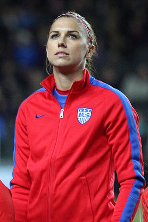 Alex Morgan - Morgan before a friendly match against England in 2015