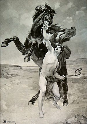 Bucephalus - Alexander taming Bucephalus