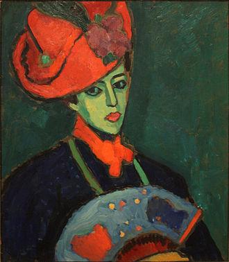 Alexej von Jawlensky - Image: Alexej Jawlensky Schokko with Red Hat (1909)