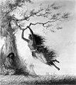 Alfred Jacob Miller - Indian Girls, Swinging - Walters 37194047.jpg