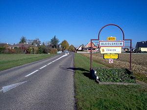Algolsheim - Entrance of the village
