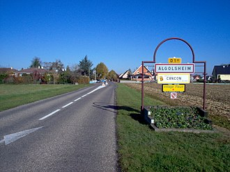 Algolsheim - Entrance of the village