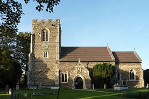 Clifton, Bedfordshire - Image: All Saints' Church, Clifton, Bedfordshire from the south