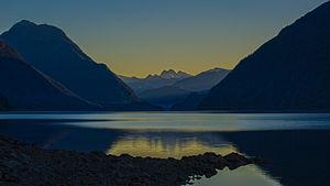 Alouette Lake - Alouette Lake at sunrise