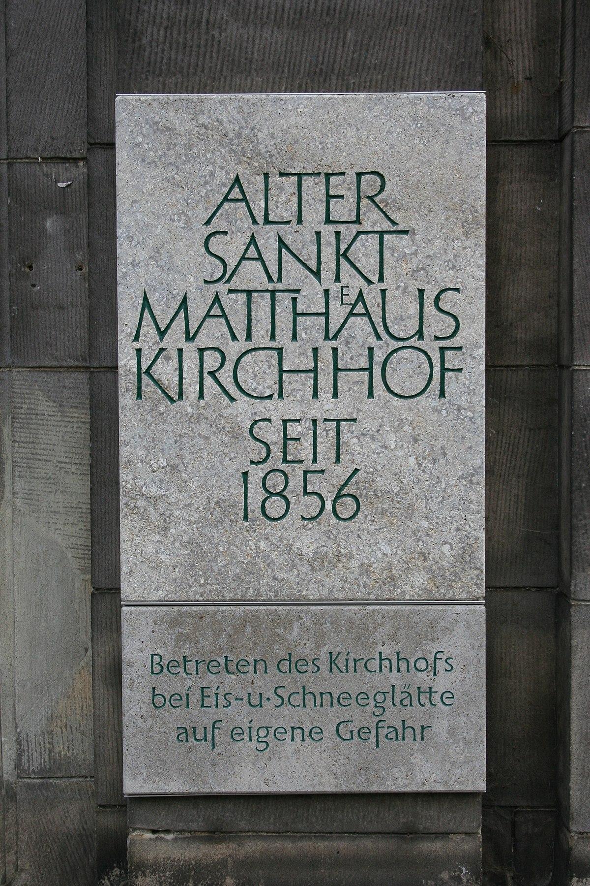 Alter St -Matthäus-Kirchhof - Wikipedia