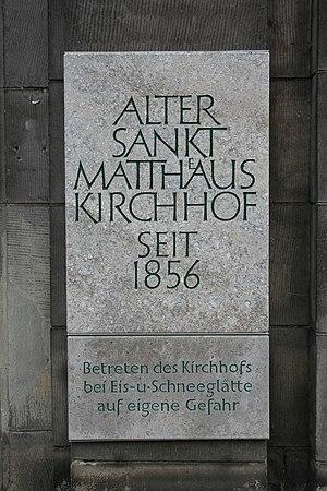 Alter St.-Matthäus-Kirchhof - Image: Alter St. Matthäus Kirchhof Berlin, July 2008